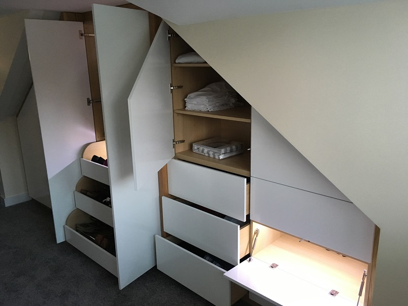 Completed bespoke fitted wardrobe