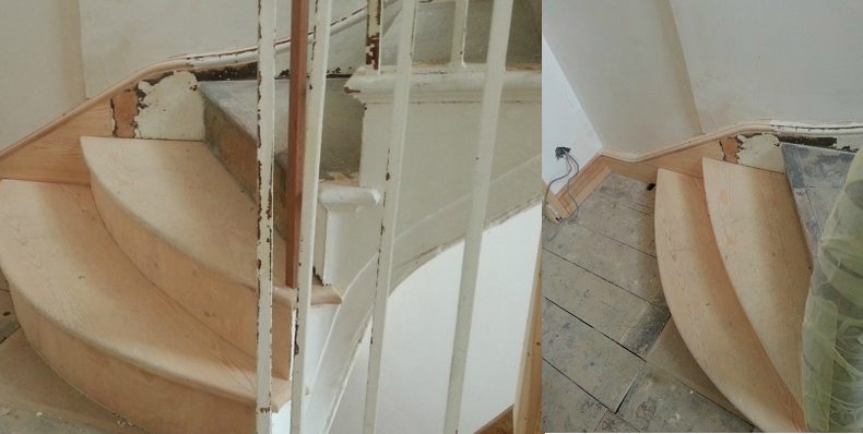 wellington square hastings staircase reverted back to original radius treads