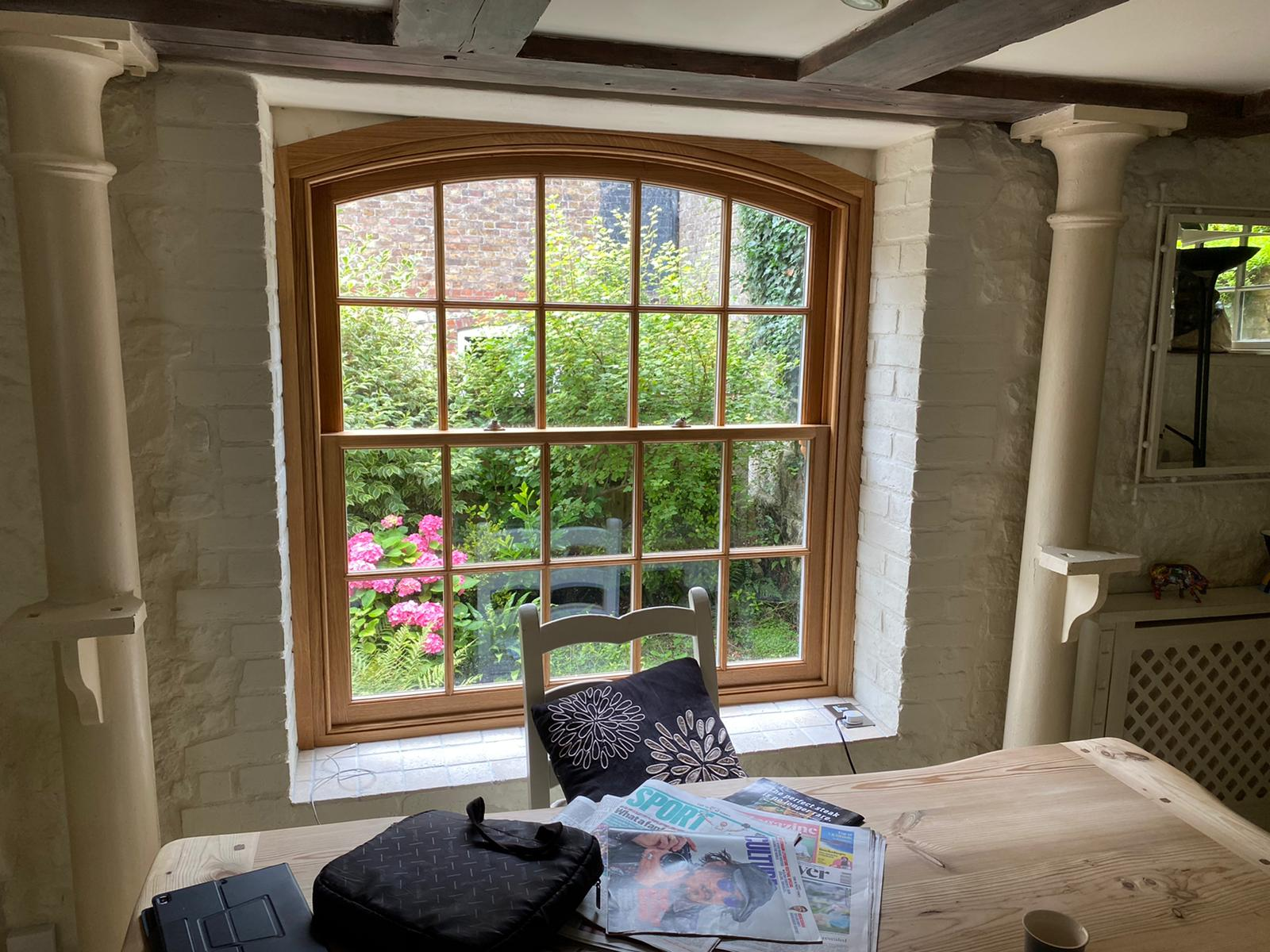 Solid Oak Box Sash Windows